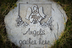 Angels Gather Here Stone Stock Photos
