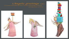 Angels greeting Stock Photography