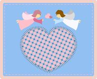 Angels with heart Stock Photography