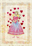 Angels with heart Royalty Free Stock Images