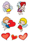 Angels and hearts Stock Images