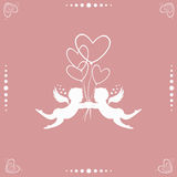 Angels with hearts Royalty Free Stock Photos