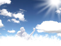 Angels of heaven. Blue and white Stock Photo