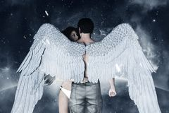 Angels in heaven land Royalty Free Stock Photos