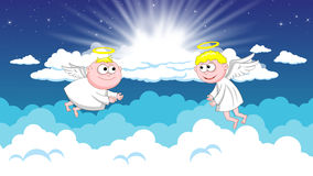 Angels in heaven Stock Photos