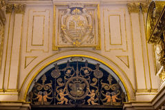 Angels holding a shield in the Mosque church of Cordoba, Spain, Royalty Free Stock Images