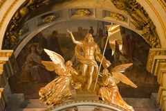 Angels in Isaac Cathedral, St. Petersburg. Angels on the roof of a side chapel of Issaacs Cathedral in St. Petersburg, Russia Stock Photo