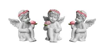 Angels isolated on white background. Three angels isolated on white background Stock Photography