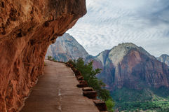 Angels landing hiking trail in Zion National Park Stock Image