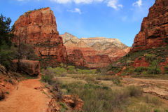 Angels Landing Landscape Royalty Free Stock Photography