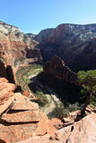 Angels Landing trail in Zion National Park Stock Photo