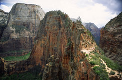 Angels Landing trail in Zion National Park Stock Image