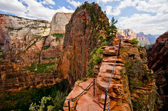 Angels Landing at Zion National Park, Utah Royalty Free Stock Images