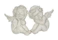 Angels of love, happiness and good luck Stock Images