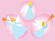 Angels making music Royalty Free Stock Images