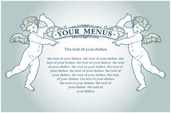 Angels menus Royalty Free Stock Photo