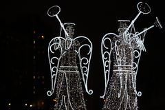 Angels in the night city Royalty Free Stock Photos