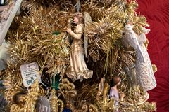 Free Angels On Christmas Tree At Store In Sea World Stock Image - 163786001