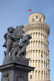 Angels @ Pisa. Pisa Leaning Tower and Statue of Cherubs Stock Photography