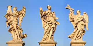 Angels on ponto sant angelo, rome Stock Photo