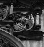 Angels praying on the facade Royalty Free Stock Photo