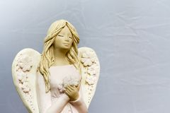 Angels are praying for us. Angels are praying for us, for our soul and our future stock images