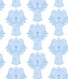 Angels seamless Royalty Free Stock Image