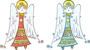Angels set Royalty Free Stock Photo