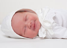 Angels smile. Day light, little baby, angels smile Stock Photo