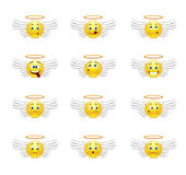Angels smilies Royalty Free Stock Images