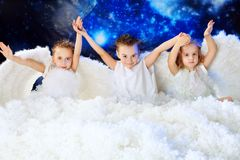 Angels in snow Royalty Free Stock Photo