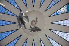 Angels and stained glass in Brasilia Stock Photography