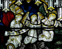 Angels in stained glass Stock Image