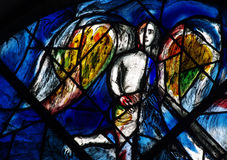 Angels in stained glass. A photo of an angel in stained glass stock photos