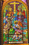 Angels Stained Glass Saint Michael's Basilica Madrid Spain Stock Photography
