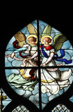 Angels. Stained glass, Saint Severin church, Paris, France stock image