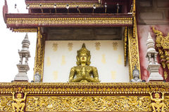 Angels Statue on an antique Thai temple Royalty Free Stock Photos