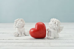 Angels with stone heart Stock Photography