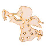 Angels with Trumpets wood Decoration Royalty Free Stock Images