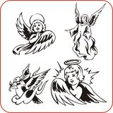 Angels - vector set. Christian Religion - vector illustration Stock Image