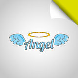 Angels wings design. Illustration eps10 graphic stock illustration