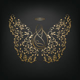 Angels with wings and Nimbus. Royalty Free Stock Photography