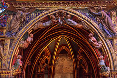 Angels Wood Carvings Cathedral Sainte Chapelle Paris France Stock Image