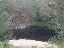 Angelschnur im Fluss Lizenzfreies Stockbild