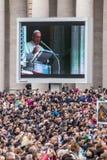 Angelus av påven Francis Royaltyfri Foto