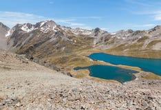 Angelus del lago in alpi del sud, Nuova Zelanda Immagine Stock