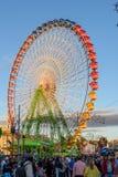 Angemessenes Riesenrad bei Sonnenuntergang Lizenzfreies Stockfoto