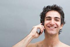 angenäm konversationtelefon Arkivbild