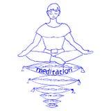Angenäm meditation Arkivbild
