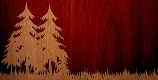 Angenämt trä på Wood bakgrund royaltyfri fotografi